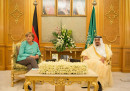 Германският канцлер Ангела Меркел и саудитският Крал Салман