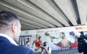 Графити на Кубрат Пулев и Ивет Лалова<strong> източник: LAP.bg, Илиан Телкеджиев</strong>