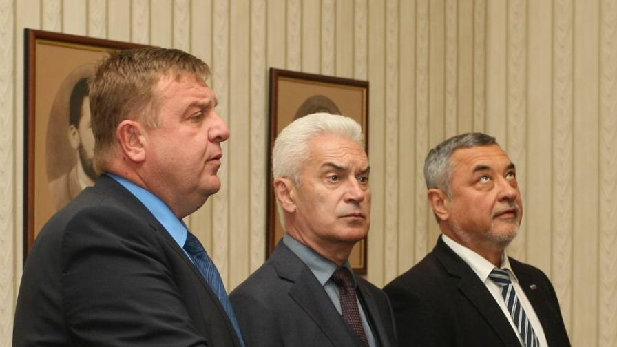 Красимир Каракачанов, Валери Симеонов, Волен Сидеров