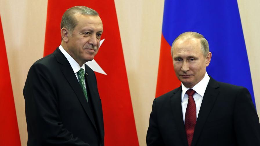 Ердоган поканил Путин да добиват заедно нефта в Сирия