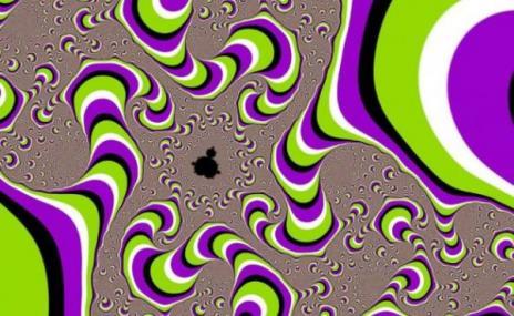 Това не е GIF изображение.Статичните картини, които създават илюзията за движение са интересен психологически феномен, който все още не може да бъде обяснен. Изследователи опитват да разберат защо мозъкът отговаря така и разпознава движение.