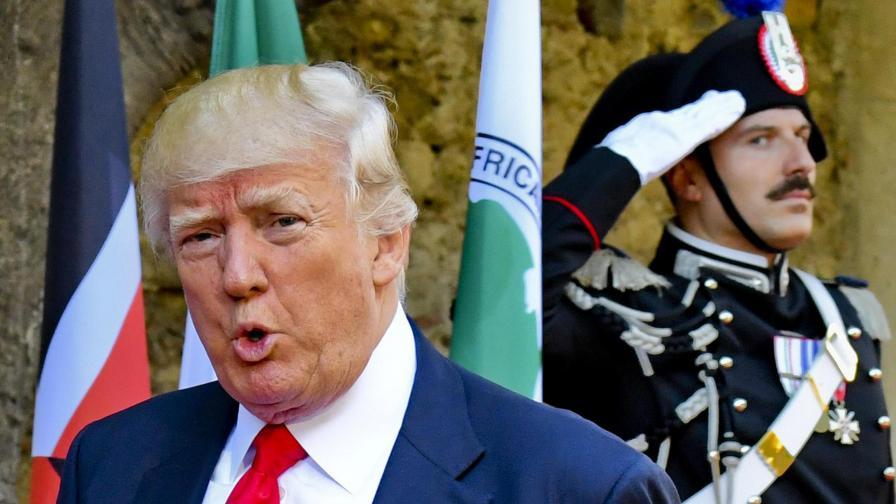Тръмп по време на срещата на Г7 в Италия
