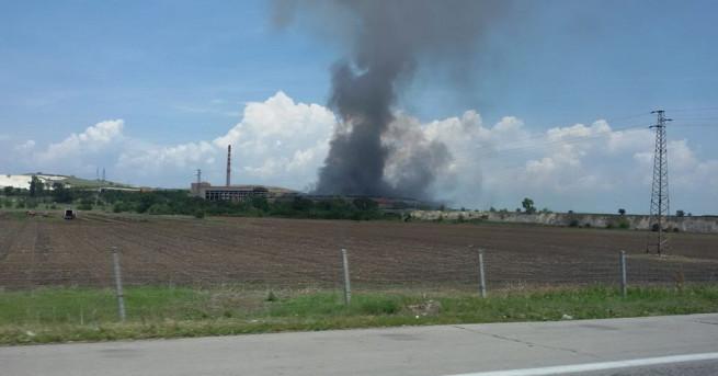Пожарът на депото за преработка на битови отпадъци в село