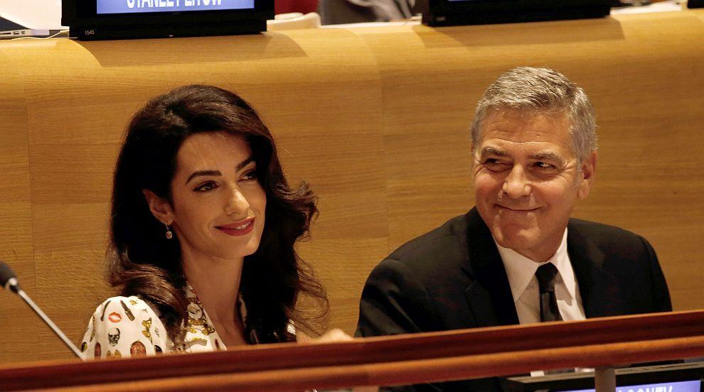 Само три месеца след раждането Амал Клуни отново работи