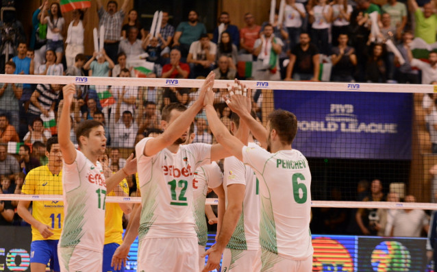 България срещу Бразилия в Световната лига по волейбол източник: LAP.bg, Ивайло Борисов
