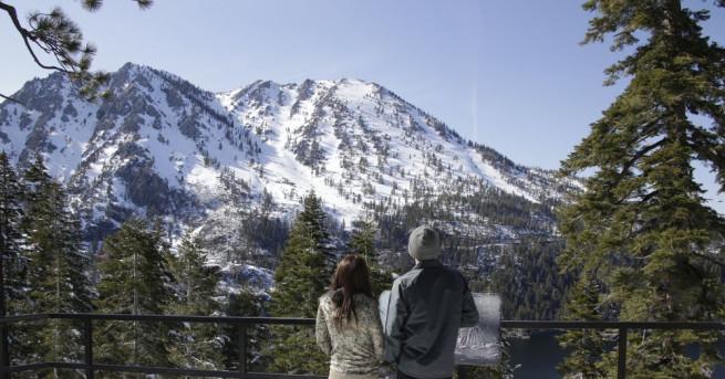 Снимка: Юнски сняг зарадва скиорите в Калифорния