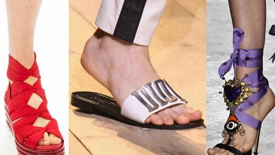 Тенденциите при летните обувки през 2017-а