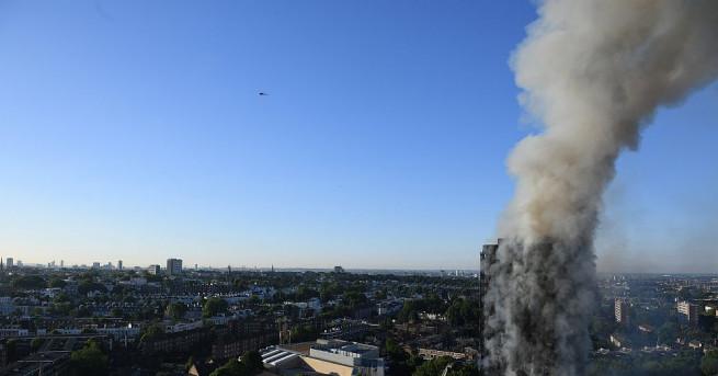 Броят на загиналите при пожара в жилищна сграда в Лондон