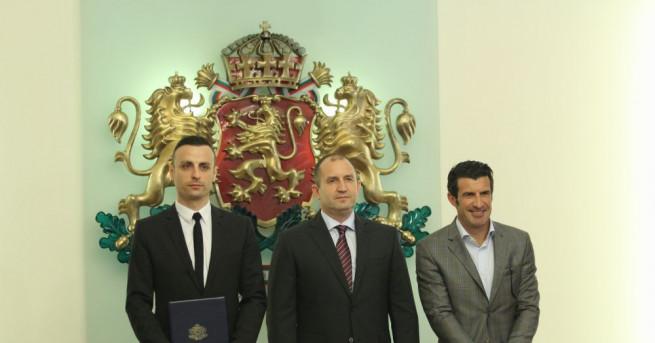Президентът Румен Радев се срещна с Димитър Бербатов и Луиш