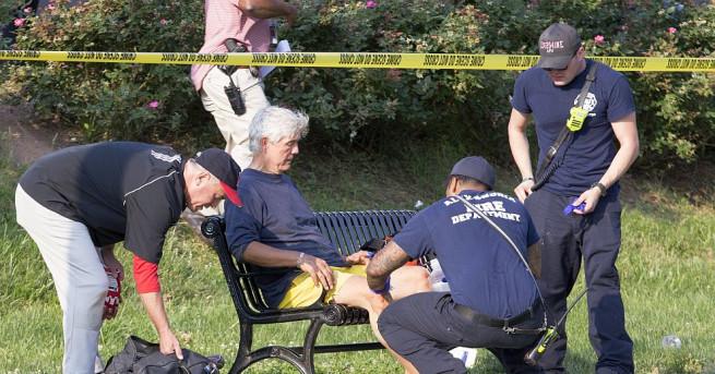 Снимка: Простреляха американски конгресмен на бейзболен стадион