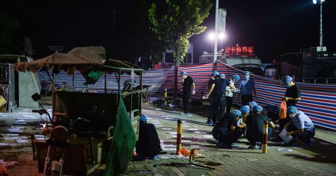 Експлозията, избухнала на 15 юни, пред детска градина в китайския