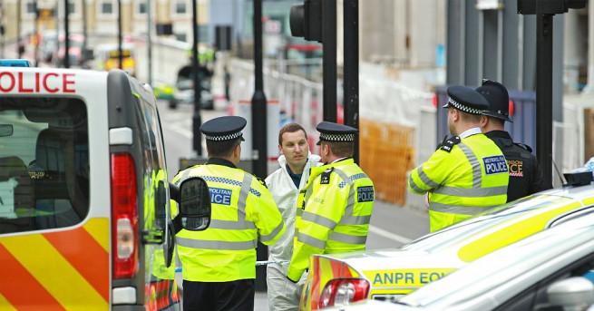 Снимка: Задържаха мъж с нож край британския парламент