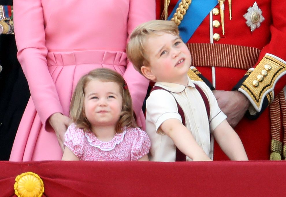 Резултат с изображение за Джордж и принцеса Шарлот