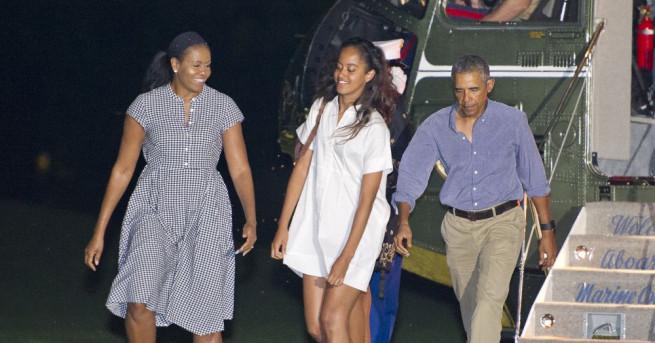 Снимка: Обама замина на семейна почивка в Индонезия