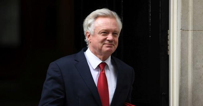 Британският министър, отговарящ за разговорите на