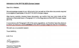 Дунав: Имаме потвърждение от УЕФА за участие в ЛЕ още от 15 юни