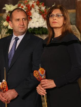 Румен Радев и Десислава Радева