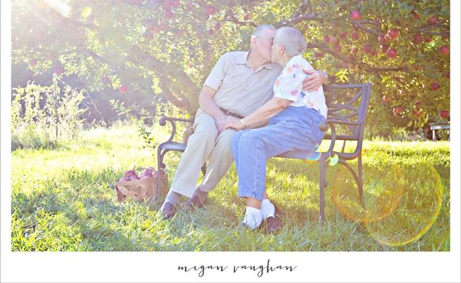 Руби и Херълд - и след 60 години все още се целуват всеки ден..., (Снимка от фотосесията за 60-годишнината им)