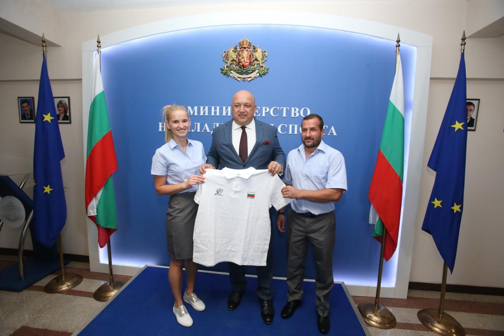 Спортистите, които ще представят България на Дефлимпикс, благодариха на министър Кралев<strong> източник: ММС - Пресцентър</strong>
