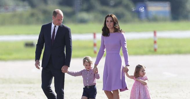 Въпреки невръстната им възраст 4-годишният принц Джордж и по-малката му