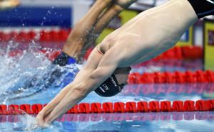 Смесената щафета на САЩ със световен рекорд в плуването