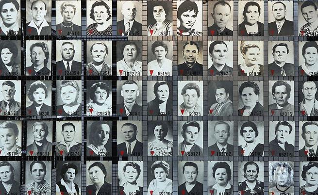 """Снимки на затвориници от """"Аушвиц""""."""