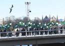 """Протест на движението """"Северноевропейска съпротива"""" миналата зима"""