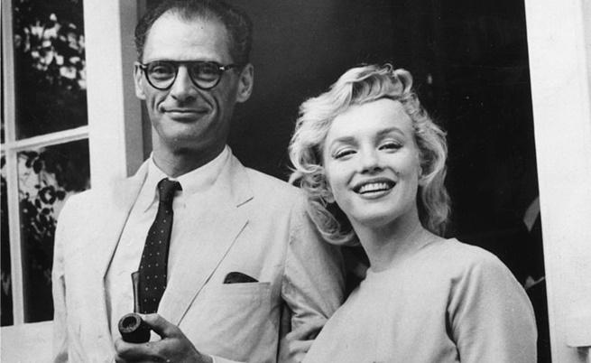 Мерилин със съпруга си Артър Милър.