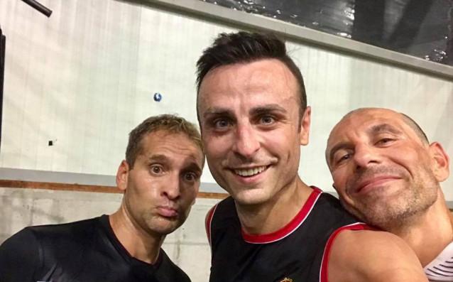 Стилиян Петров, Димитър Бербатов и Мартин Петров<strong> източник: www.facebook.com/berbatov.bg</strong>