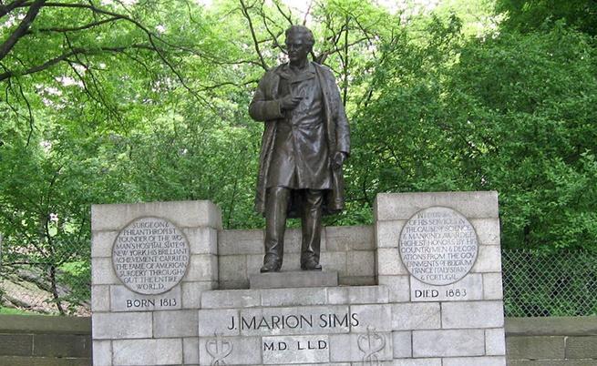"""Паметник на Джеймс Марион Симс в """"Сентръл Парк"""", Ню Йорк"""
