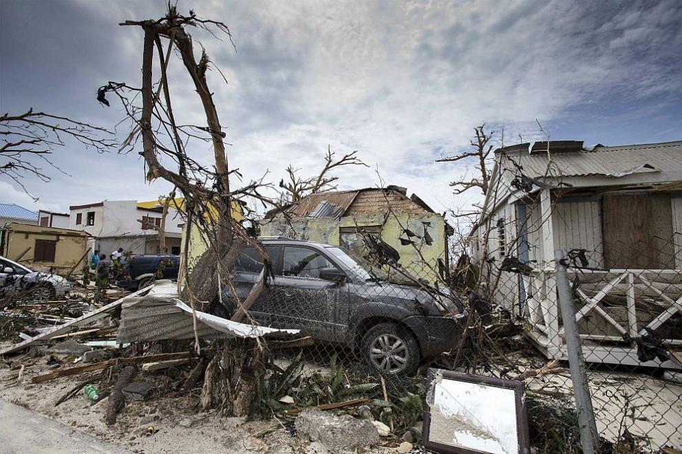 Бедствието от урагана Ирма на Карибите