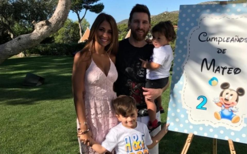 Меси отпразнува рождения ден на своя син