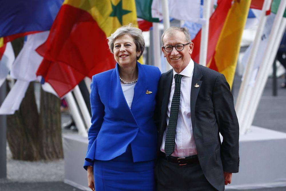 Министър-председателят на Обединеното кралство Тереза Мей и нейният съпруг Филип.