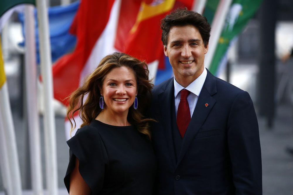 Премиерът на Канада Джъстин Трюдо  и съпругата му Софи.