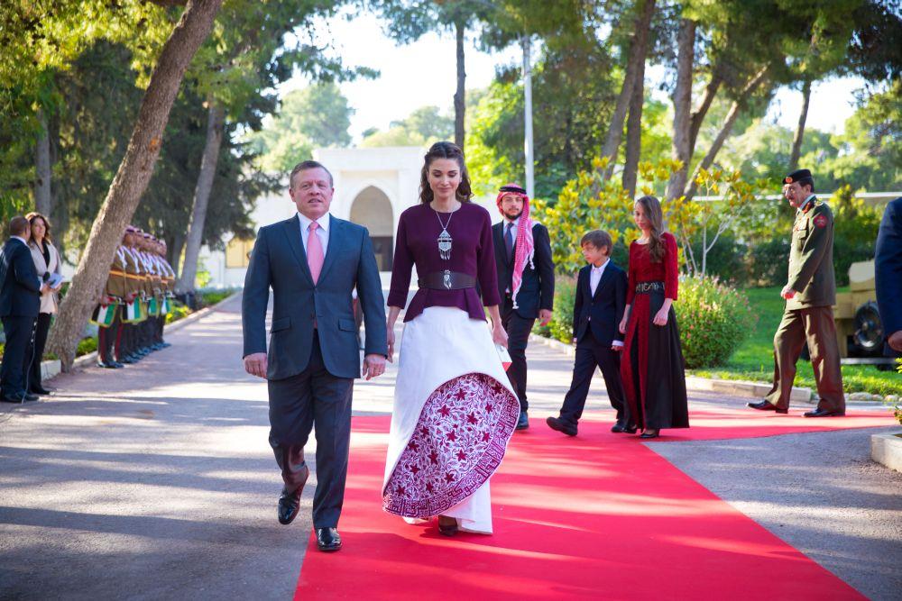 Кралят на Йордания Абдула и съпругата му Рания.