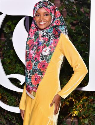 Халима Аден на Седмицата на модата в Ню Йорк