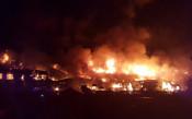 Мощен пожар избухна до новия стадион на Тотнъм