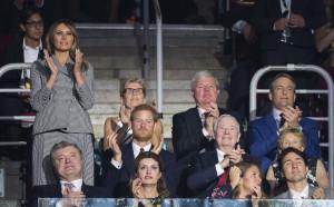 Мелания Тръмп на крака в подкрепа на американски отбор