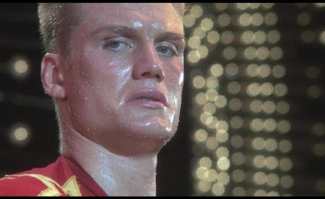 Долф Лундгрен като Иван Драго в Роки IV.