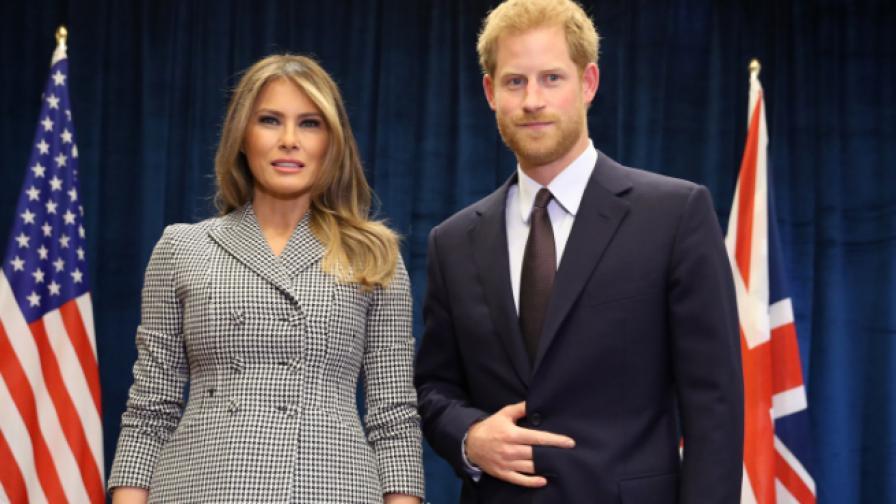 Снимката на Мелания и принц Хари, която обиколи мрежата