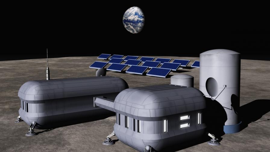 Така би могла да изглежда лунната база на човечеството