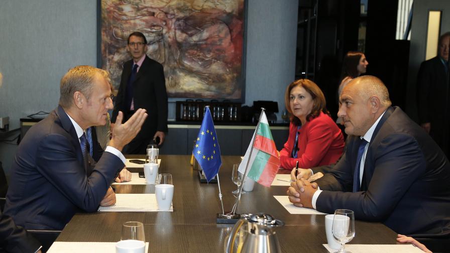 Срещата между Туск и Борисов в Естония