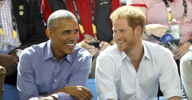 Принц Хари и бившия американски президент Барак Обама се забавляваха