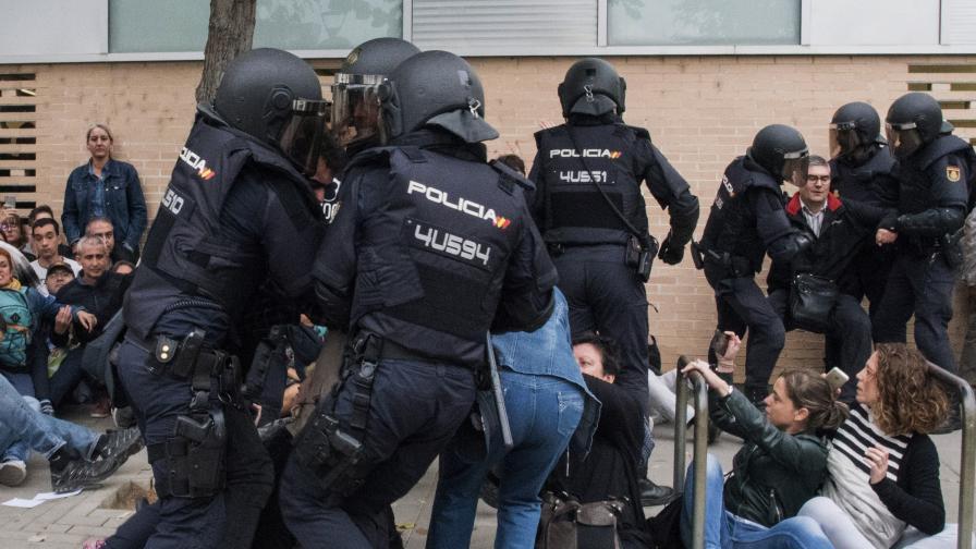 Сблъсъци в Каталуния