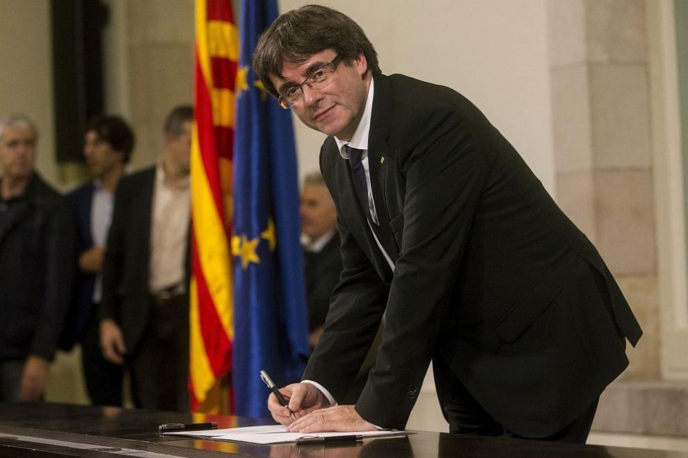 Каталунският премиер Карлес Пучдемон