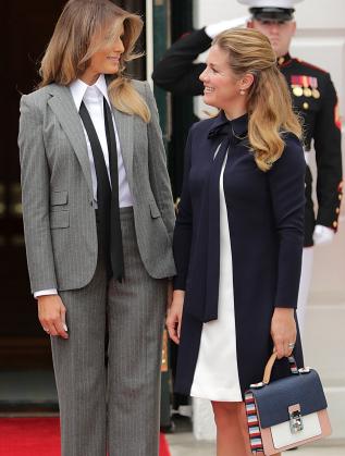 Мелания Тръмп и Софи в Канада
