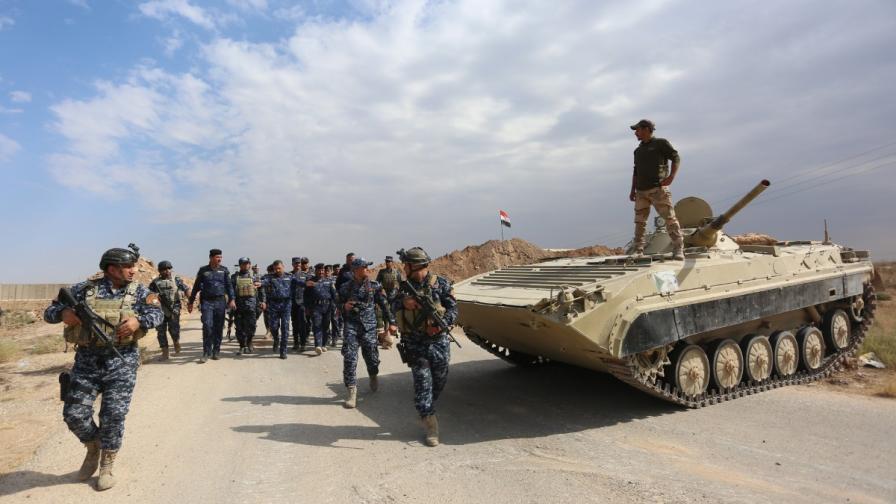 Иракските сили заемат позиция