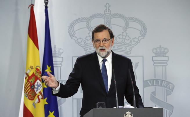 Мадрид разпуска каталунското правителство, иска предсрочни избори