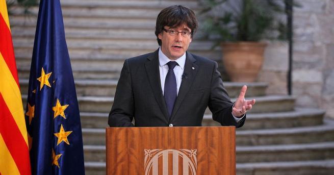 Каталунският лидер Карлес Пучдемон призова към