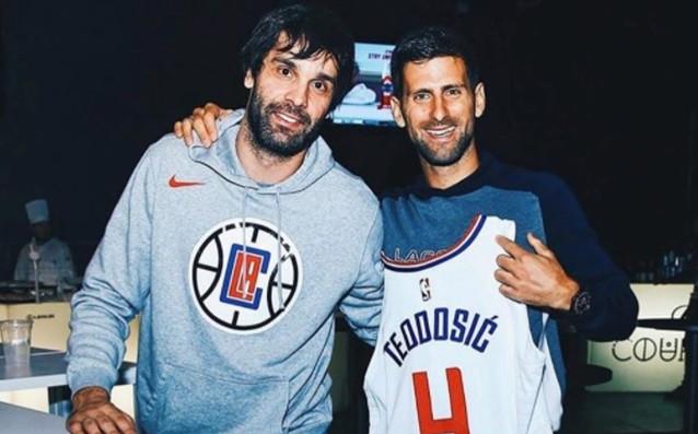 Милош Теодосич и Новак Джокович източник: instagram.com/milosteodosic4/